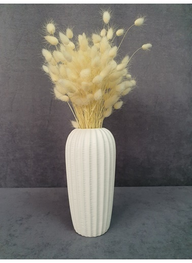 Kuru Çiçek Deposu Kuru Çiçek Pamuk Otu Demeti 35-40 Cm Mavi Beyaz
